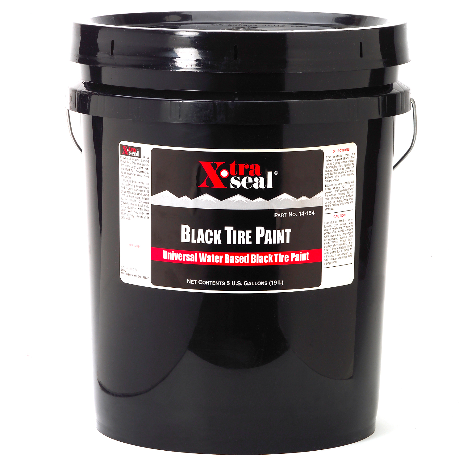 14 154 5 gallon 19l black tire paint ready to use